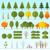 Different trees collection isolated — Stock Vector