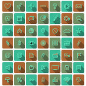 Modern flat icons vector collection — Stock Vector
