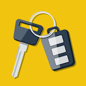 Vector Car Key and charm of the alarm system — Stock Vector