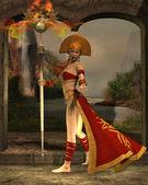 Sun Priestess — Stock Photo