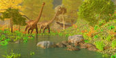Deep Forest Dinosaurs — Stock Photo