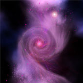 Galaxy Collision — Stock Photo