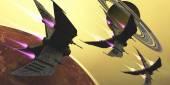 Saturn Moon Blast — Stock Photo