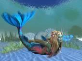 Undersea Mermaid — Stock Photo
