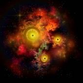 Burning Embers Nebula — Stock Photo