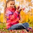Girl in Autumn Park — Stock Photo #58789245