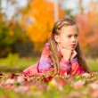 Girl in Autumn Park — Stock Photo #58789329