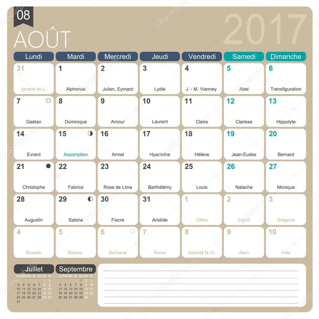 Calendar For 2017 In French - printable-calendarsnew.com