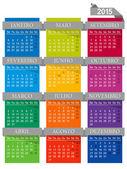 Kalendarz 2015 — Wektor stockowy