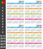Calendario 2015-2018 — Vector de stock