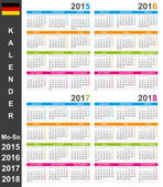 Calendar 2015-2018 — Stock Vector