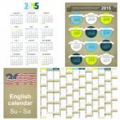 Calendario 2015 — Vector de stock