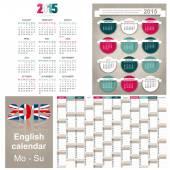 Kalendář do roku 2015 — Stock vektor