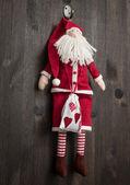 Santa Claus Christmas handmade toy — Stock Photo