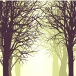 Vector background with trees — Stock Vector #54438737