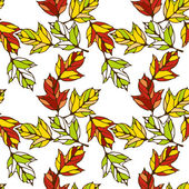 Vector seamless pattern with leaves — Stock Vector