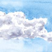 Watercolor drawing clouds — Stock Vector