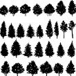 Set of trees silhouettes — Stock Vector #59577059