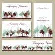 Set of templates with trees — Stock Vector #70870931