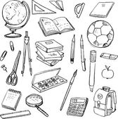 Set of school objects — Stock Vector
