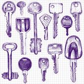 Set of different keys — Stock Vector