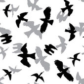 Vector seamless pattern with birds — Stock Vector