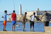 Cuban fishermen — Stock Photo