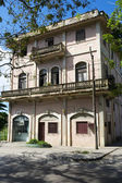 Facade of a traditional cuban house, example of a colonial architecture — Stock Photo