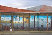 Graffiti on a street of Punta Arenas, Chile — Stock Photo