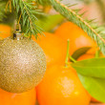 Christmas ball on fir branch  — Stock Photo #57853073