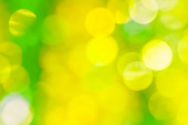 Festive green and yellow bokeh — Photo