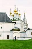 Evening walking-tour to the Orthodox church — Stock Photo