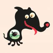 Happy monsters vector images. Set 16 — Stock Vector