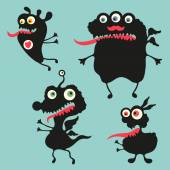 Happy monsters vector images. Set 11 — Stock Vector