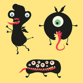 Happy monsters vector images. Set 12 — Stock Vector