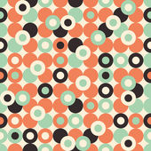 Seamless pattern with large circles. — Stock Vector
