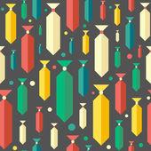 Retro, nahtlose Muster mit bunten Krawatten und Kreise. — Stockvektor