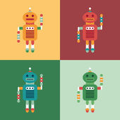 Set of colorful intelligent robots. — Vettoriale Stock