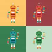 Set of colorful intelligent robots. — Wektor stockowy
