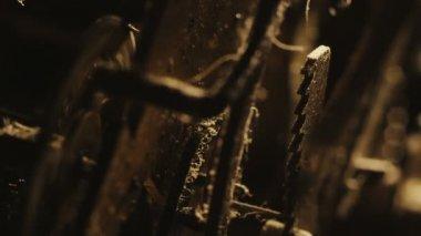 Old Clock Gears Mechanism — Wideo stockowe