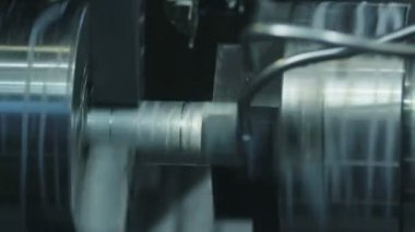 Industrial Lathe Works Metal with Precision — Stock Video
