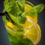 Kiwi juice with slice of orange — Stock Photo #67998673