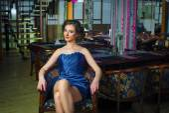 Fashion lady in dress — Stock Photo