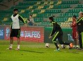 ZILINA, SLOVAKIA  - OCTOBER 8, 2014: Spain national team players — Stock Photo
