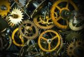 Watch gears grunge background — Stock Photo