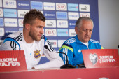 Ukrainische Fußballnationalmannschaft — Stockfoto