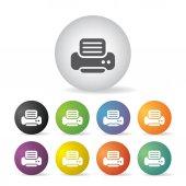 Printer icon set — Stock Vector