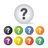 Question mark icon set — Stock Vector