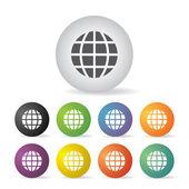 Globe earth icon set — Stock Vector