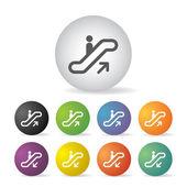 Stairway symbol set — Vettoriale Stock